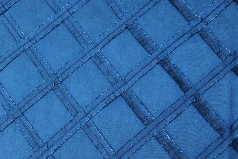 navy lattice