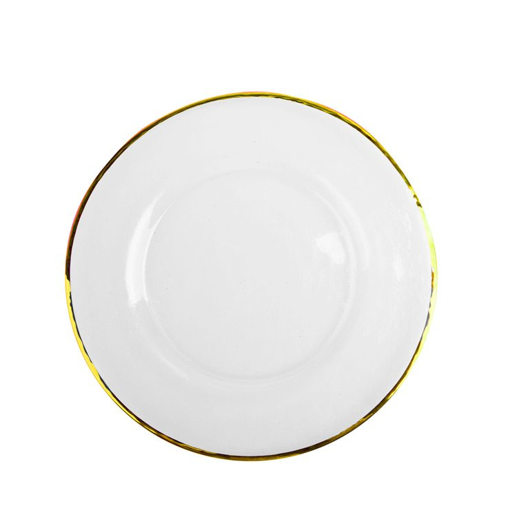 Glass Gold Rim Charger Table Manners