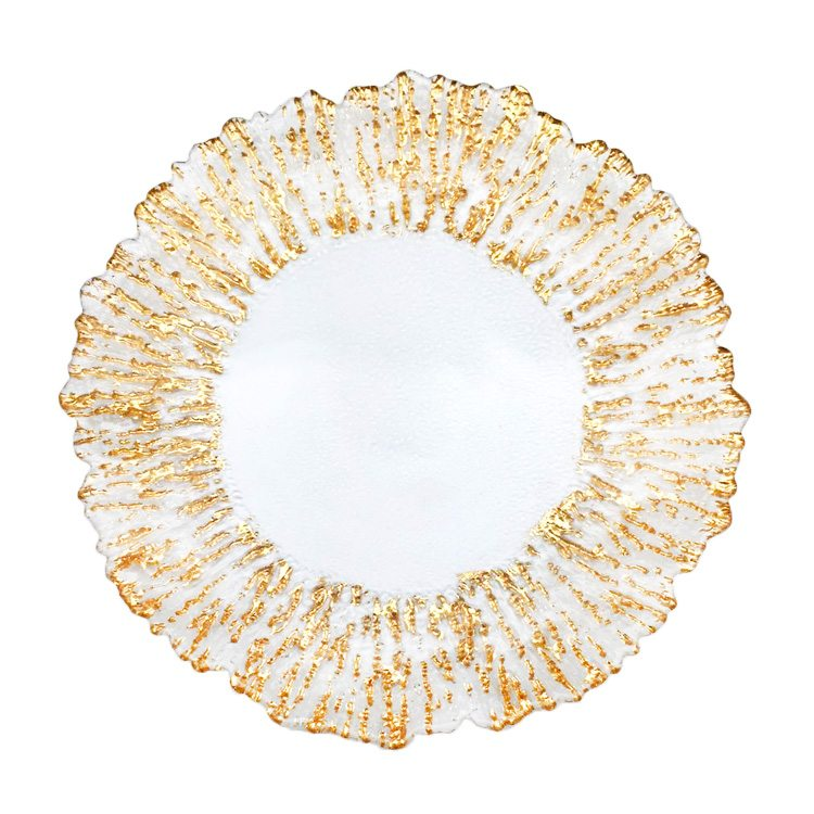 Gold Glass Sunburst Charger Table Manners