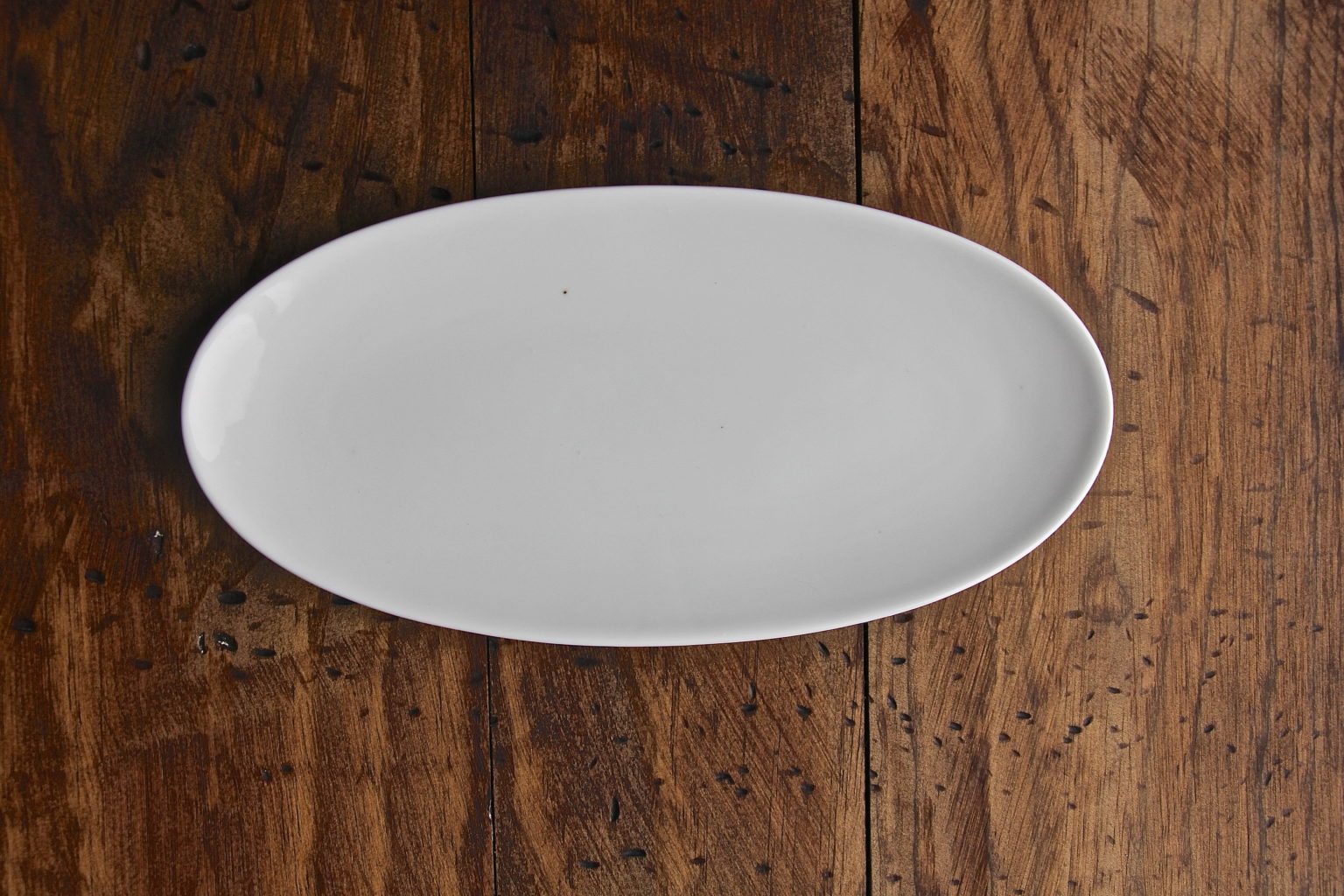 White Oval Coupe Cocktail Plate Table Manners