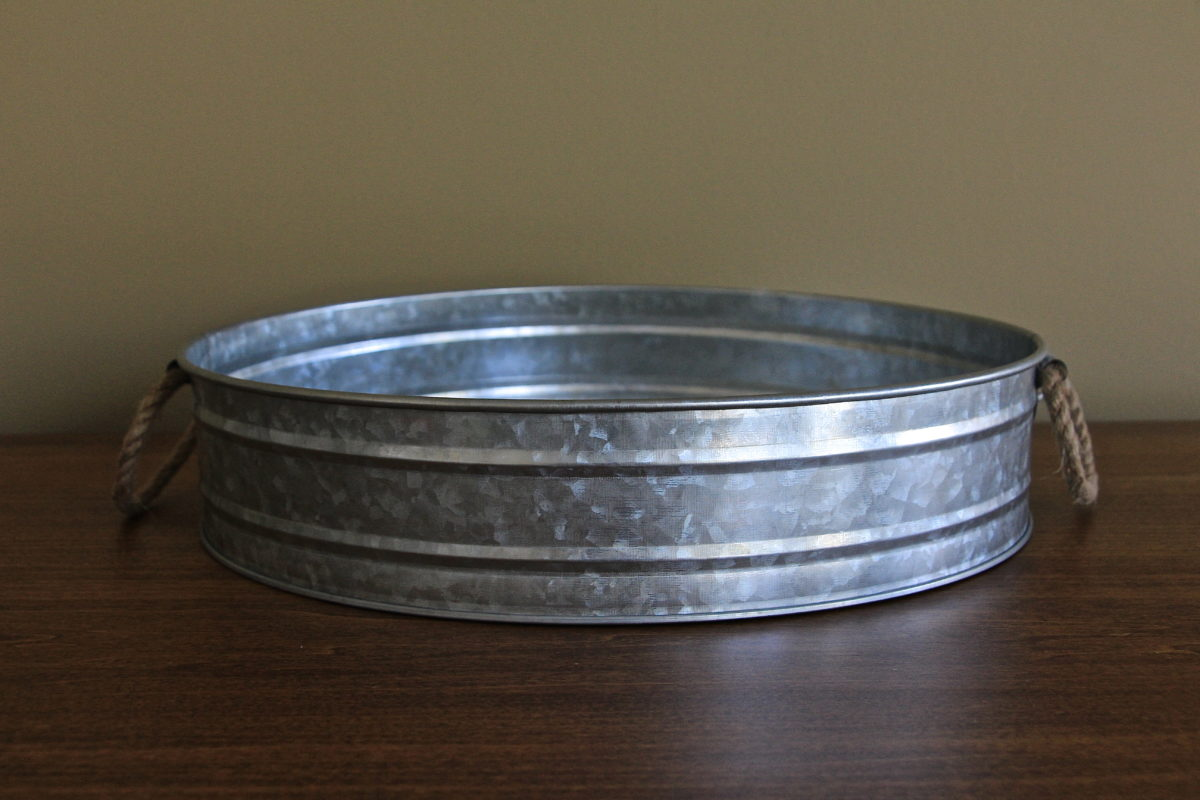 Galvanized Zinc Serving Tray Table Manners
