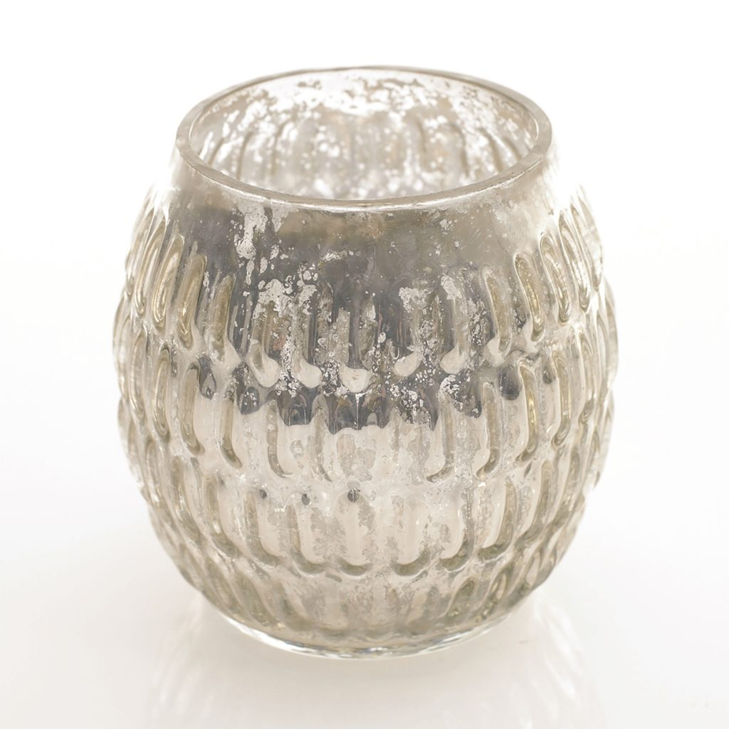 Silver Mercury Votive Candle HolderCylinder Table Manners