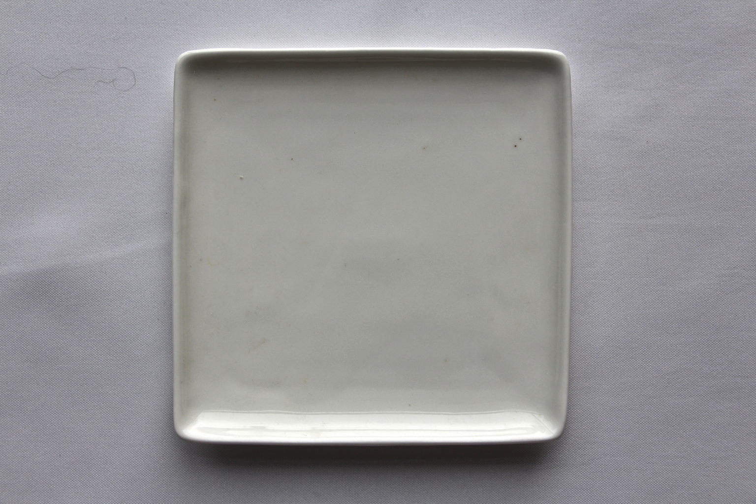White Square Coupe Cocktail Plate Table Manners