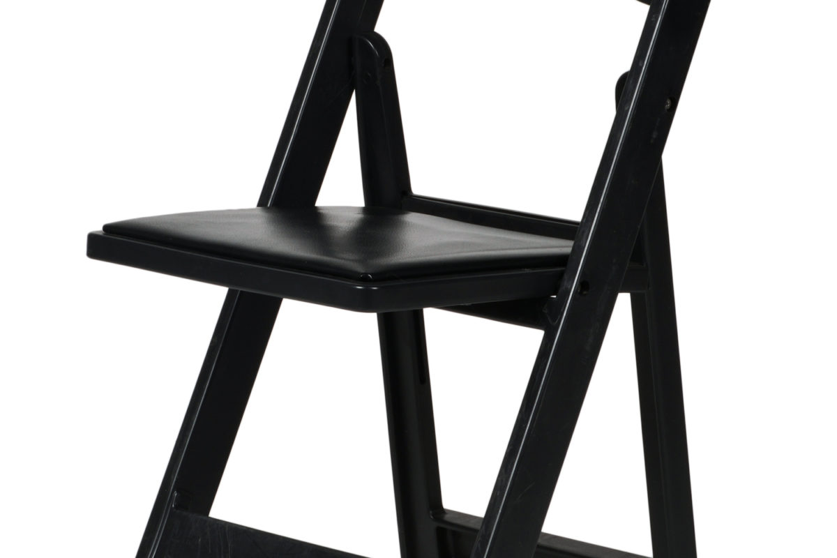 Black Resin Folding Chair Table Manners