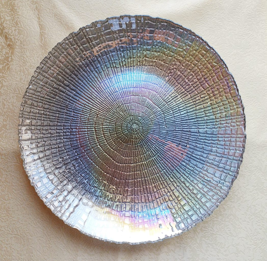 Pearl Glass Charger Plate Table Manners