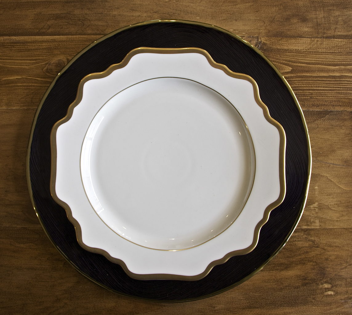 Donatella Ivory Porcelain Charger Plate Table Manners